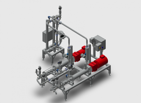 Dual-Feed Lotion Emulsification System