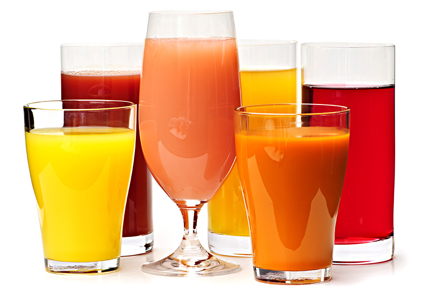 glasses of juices
