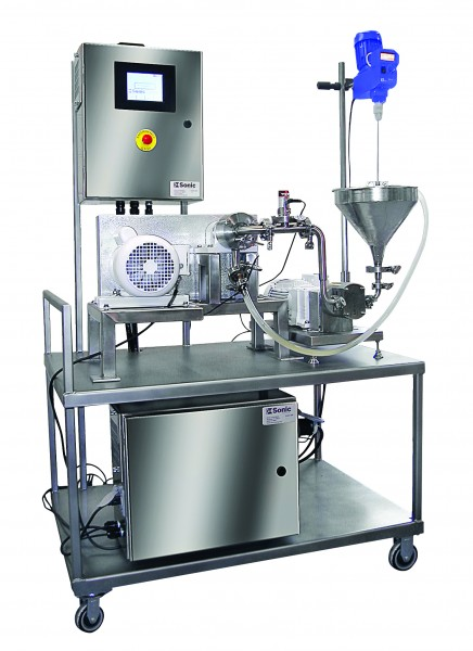 Lab scale colloid mill portable system